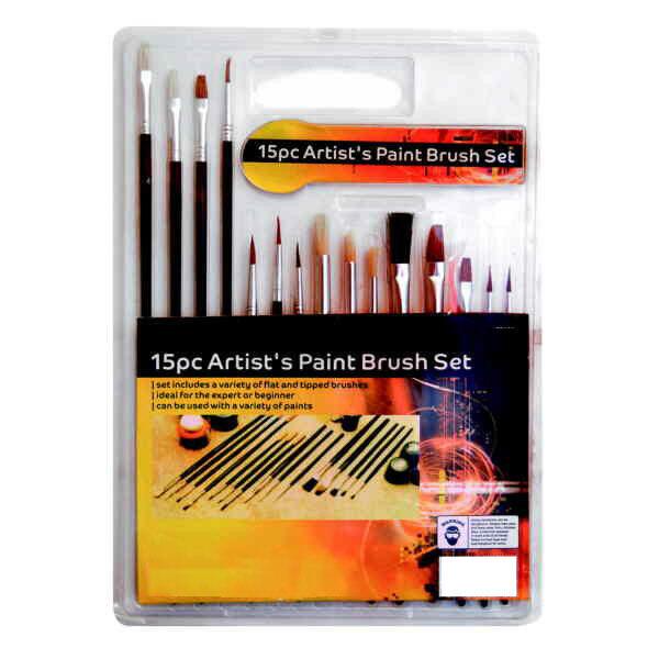 15pc Paint Brush Set Airfix Models Scenery Etc Model Makers Suit Warhammer / 40K