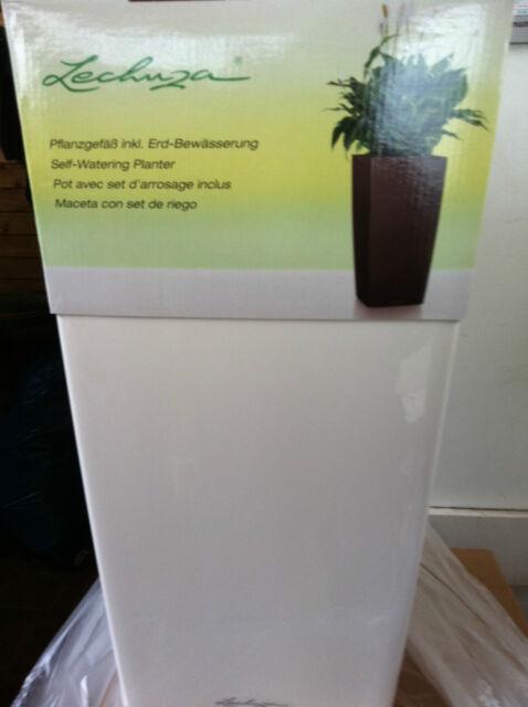 Lechuza Cubico 40 Premium Komplett Weiß Hochglanz