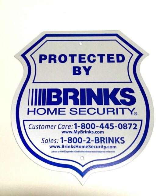 Large Metal 9x12 Brinks Adt Home Security Alarm System Burglar Warning Yard Sign