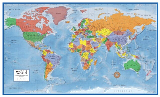 World wall map poster big large giant laminated globe classroom laminated world map wall poster big large giant globe classroom pull roll down gumiabroncs Images