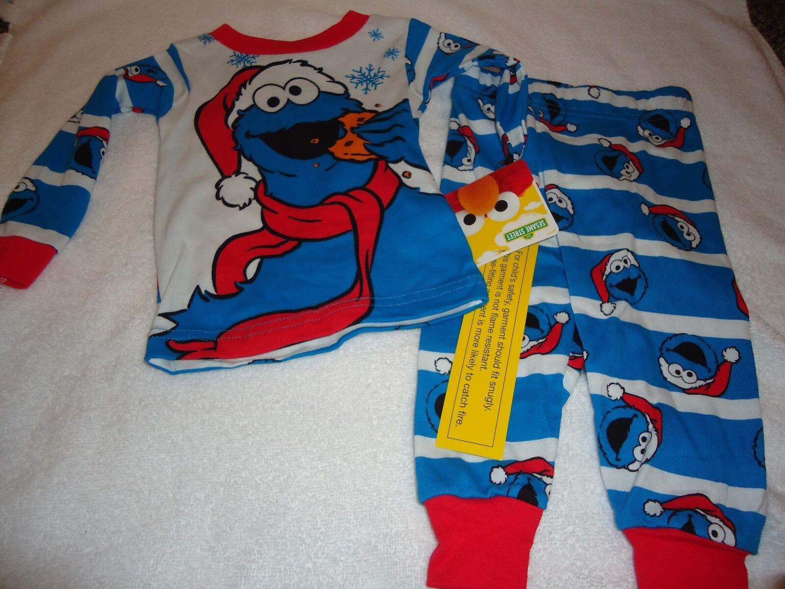 Sesame Street Baby Toddler Santa Cookie Monster Christmas 2 Piece