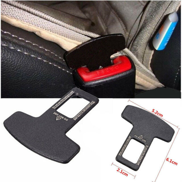 Universal Car Safety Seat Belt Buckle Alarm Stopper Eliminator Clip ...