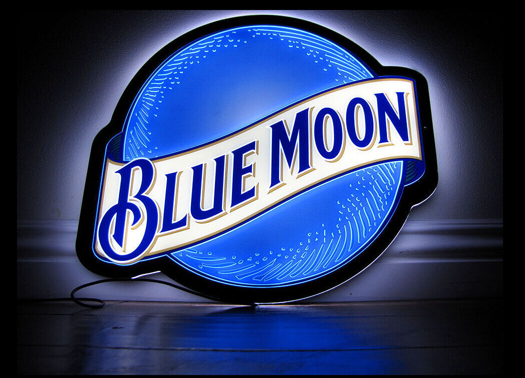 Blue moon neon led beer bar light sign 14 l801 ebay blue moon neon led beer bar light sign 14 l801 aloadofball Image collections