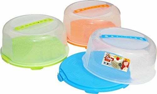 Portable Cake Caddy Storage Container Server W Handle Assorted
