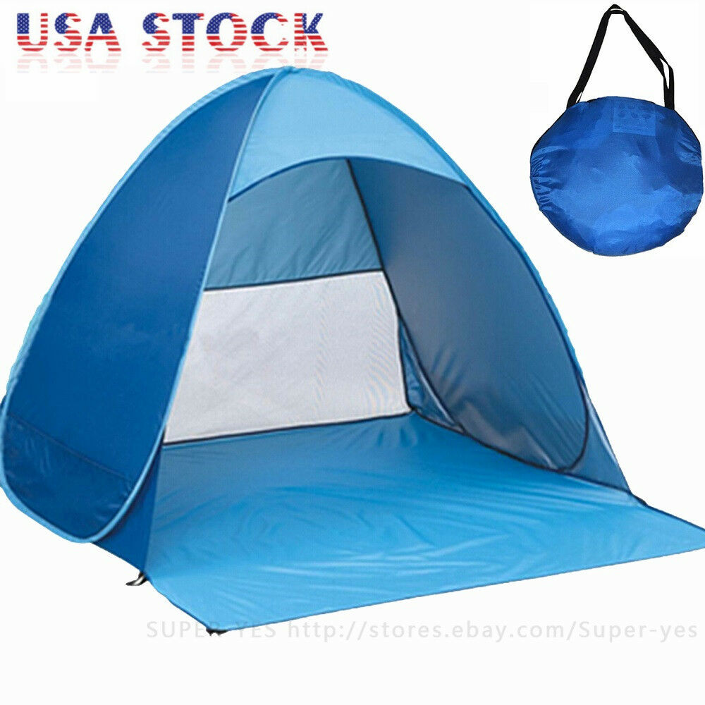 Picture 1 of 6 ...  sc 1 st  eBay & US Portable Beach Tent Shelter Sun UV Shade Pop up Canopy Fishing ...