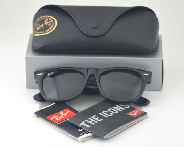 55962693e0 ... france ray ban rb2140 original wayfarer classic black sunglasses ebay  bd0f6 85926 ...