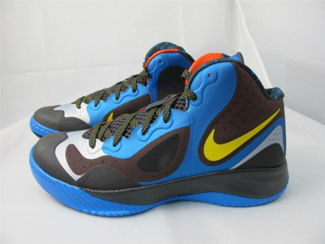 NEW MEN'S NIKE ZOOM HYPERFRANCHISE XD 579835-400 PHT BL/ TR YLLW- NGHT