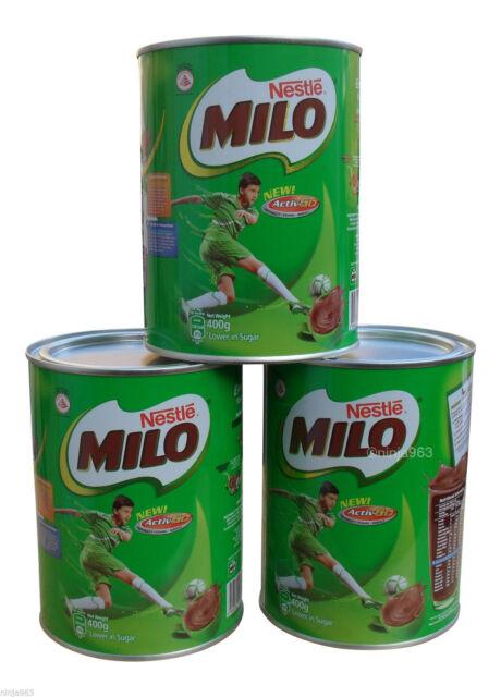 3 X Nestle Milo Chocolate Malt Energy Drink 400g | eBay