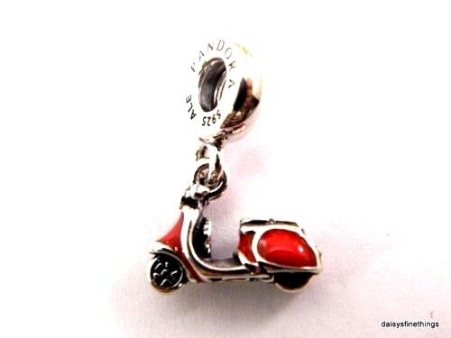 Authentic Pandora Charm 791140en42 Red Scooter Vespa
