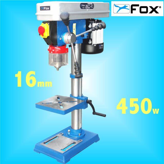 Bench Pillar Drill Part - 44: FOX F12-941A 12 Speed Bench Pillar Drill 240v Table Press 16mm Chuck 3Yr  Warrnty