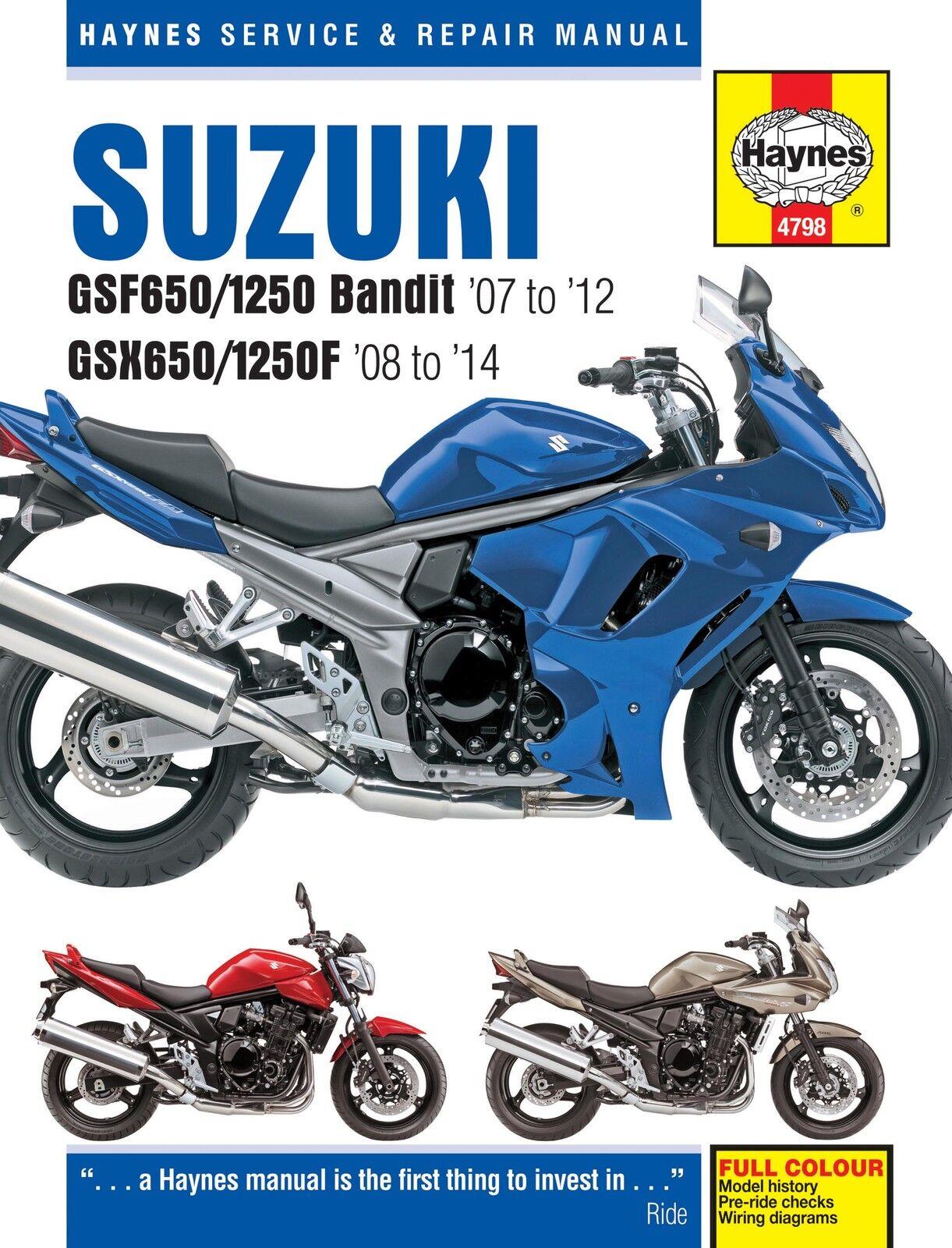 haynes 4798 motorcycle repair manual suzuki gsf650 bandit gsx650f 07 rh ebay com Spanish Motorcycle Suzuki SV 650 1998