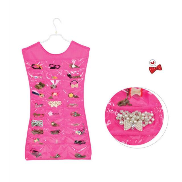 Jewelry Brooch Storage Organizer Closet Display Dress Hanging Holder