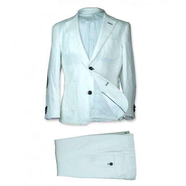 Boys Italian 2 PC White Linen Communion Suit Pageboy Wedding Prom ...