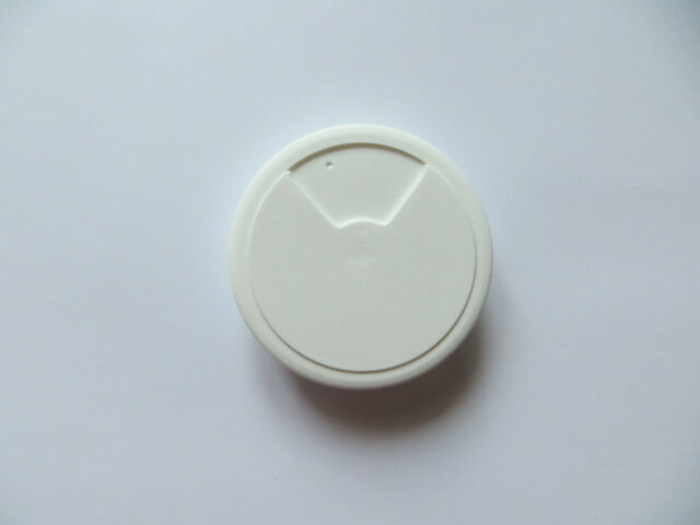 80mm White PC Computer Desk Plastic Grommet Table Cable Tidy Wire ...