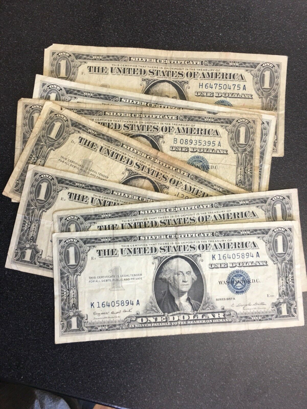 1957 one dollar silver certificate blue seal note circulated get picture 1 of 1 1betcityfo Images