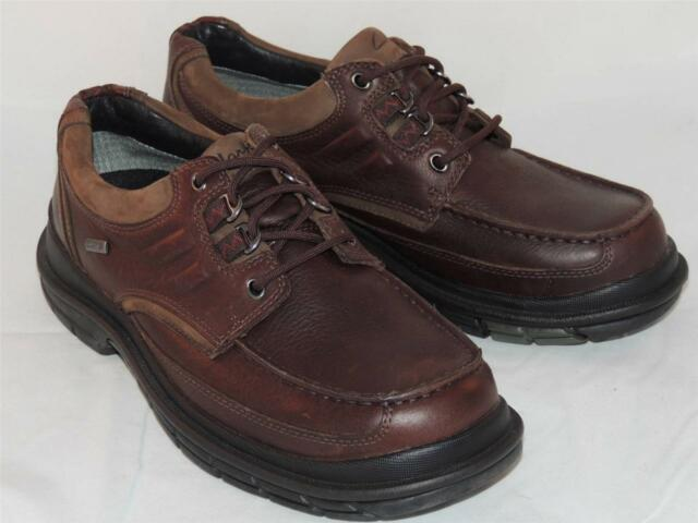 Mens CLARKS Redwood Oxford Gore-Tex shoes Brown leather NEW Size 7 US 78921