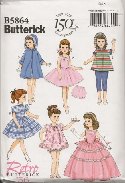 B5864 18 Inch Doll Clothes Sewing Pattern Butterick 5864 | eBay