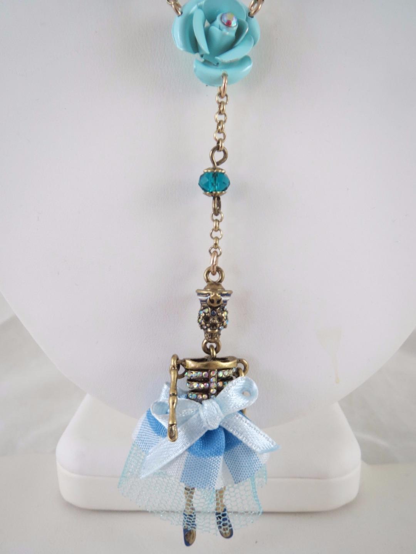 Betsey Johnson Jewelry Skulls and Roses Skeleton Necklace B10972 ...
