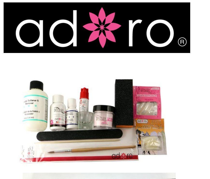 Pink Acrylic Powder Adoro Professional Full Nail Kit - 13 Pcs Like ...