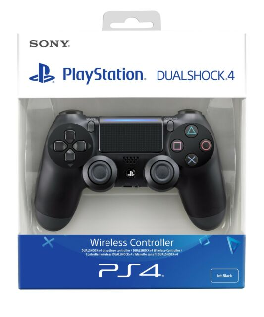 PS4 DualShock 4 Controller Black V2 BRAND NEW SEALED OFFICIAL