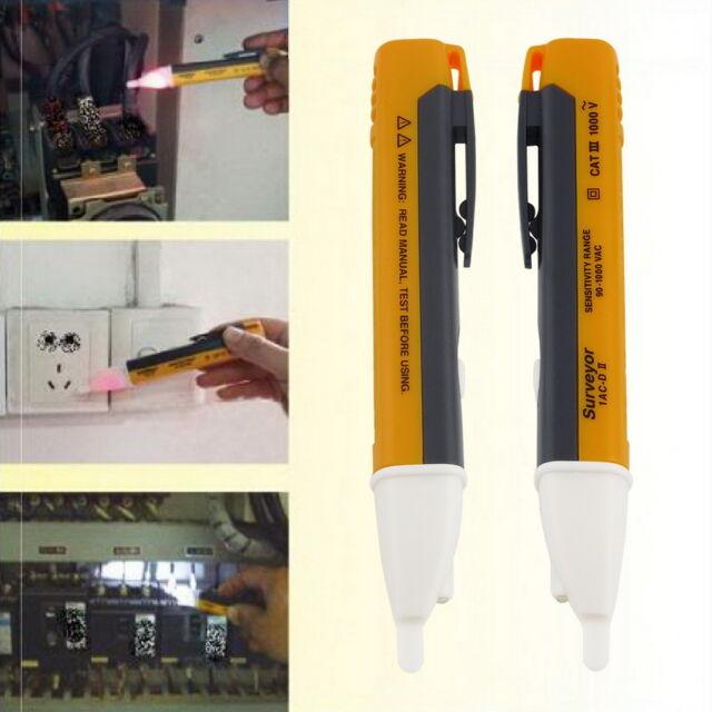 Spannungstester berührungslos Spannungsprüfer 90V-1000V AC Tester Pen mit LED CS