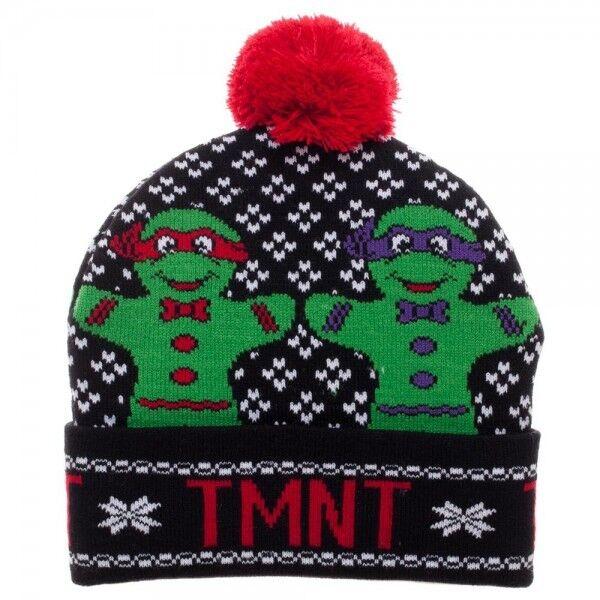 Teenage Mutant Ninja Turtles Gingerbread Fair Isle TMNT Pom Cuff ...