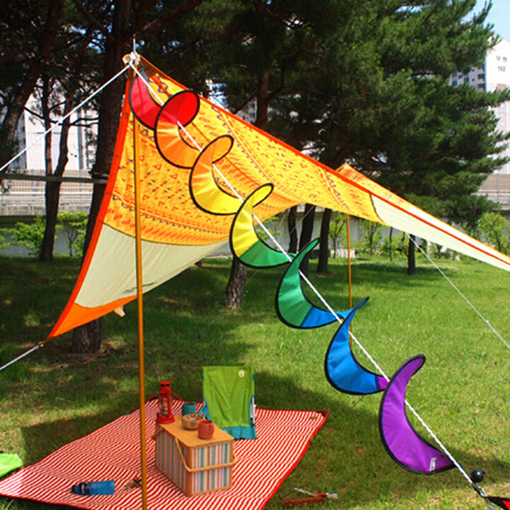 Camping Tent Foldable Rainbow Spiral Windmill Wind Spinner Home ...