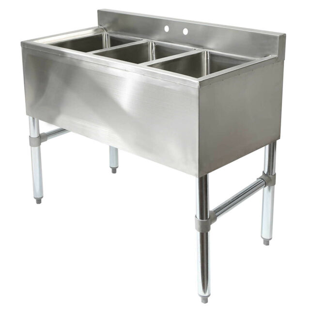 Three Compartment Commercial Kitchen Sink - Stainless Steel | eBay