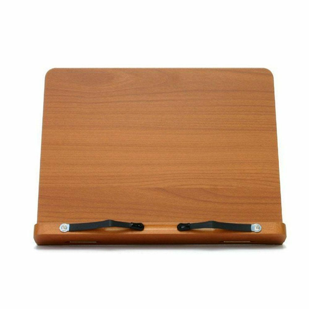 Wiztem Tulip Book Stand Portable Wooden Reading Holder Desk