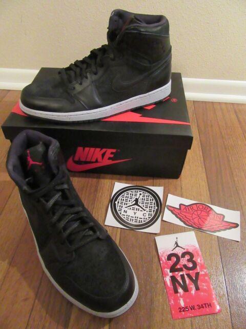 Nike Air Jordan 1 Retro High NYC Size 12 Black Gym Red Wolf 715060 002 DS NIB