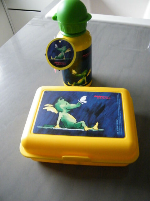 NEU Butterbrotdose oder Alu -Trinkflasche Emsa Tabaluga Spiegelburg