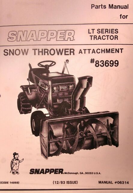 s l640 snapper lt12 & lt16 lawn tractor parts manual ebay snapper lt16 wiring diagram at fashall.co