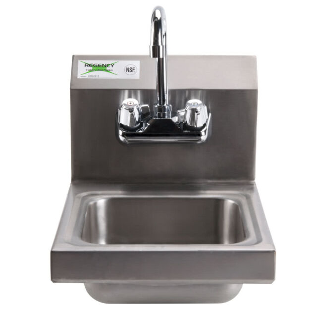 Regency Steel Hand Washing Sink Stainless 12\