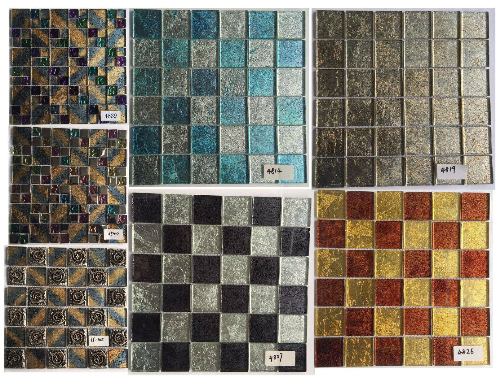 Chois Whole 12pcs Backsplash Tiles Close Out Gl Smart Mosaic Walls Ly105 1pc Ebay