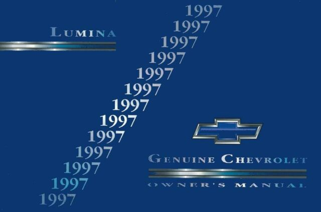 1997 chevrolet lumina owners manual user guide reference operator rh ebay com chevrolet lumina 1991 owners manual 1999 chevrolet lumina owners manual