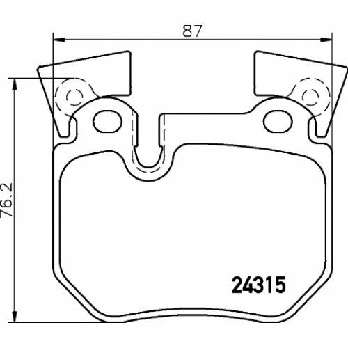 BREMBO Brake Pad Set, disc brake P 06 059