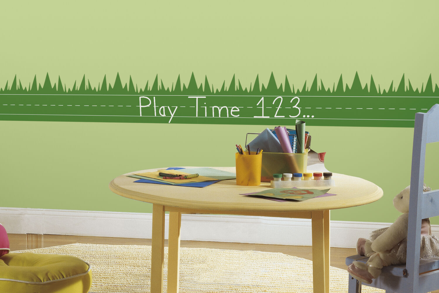 RoomMates RMK1950SCS One Decor Learning Lawn Chalk Peel & Stick Wall ...