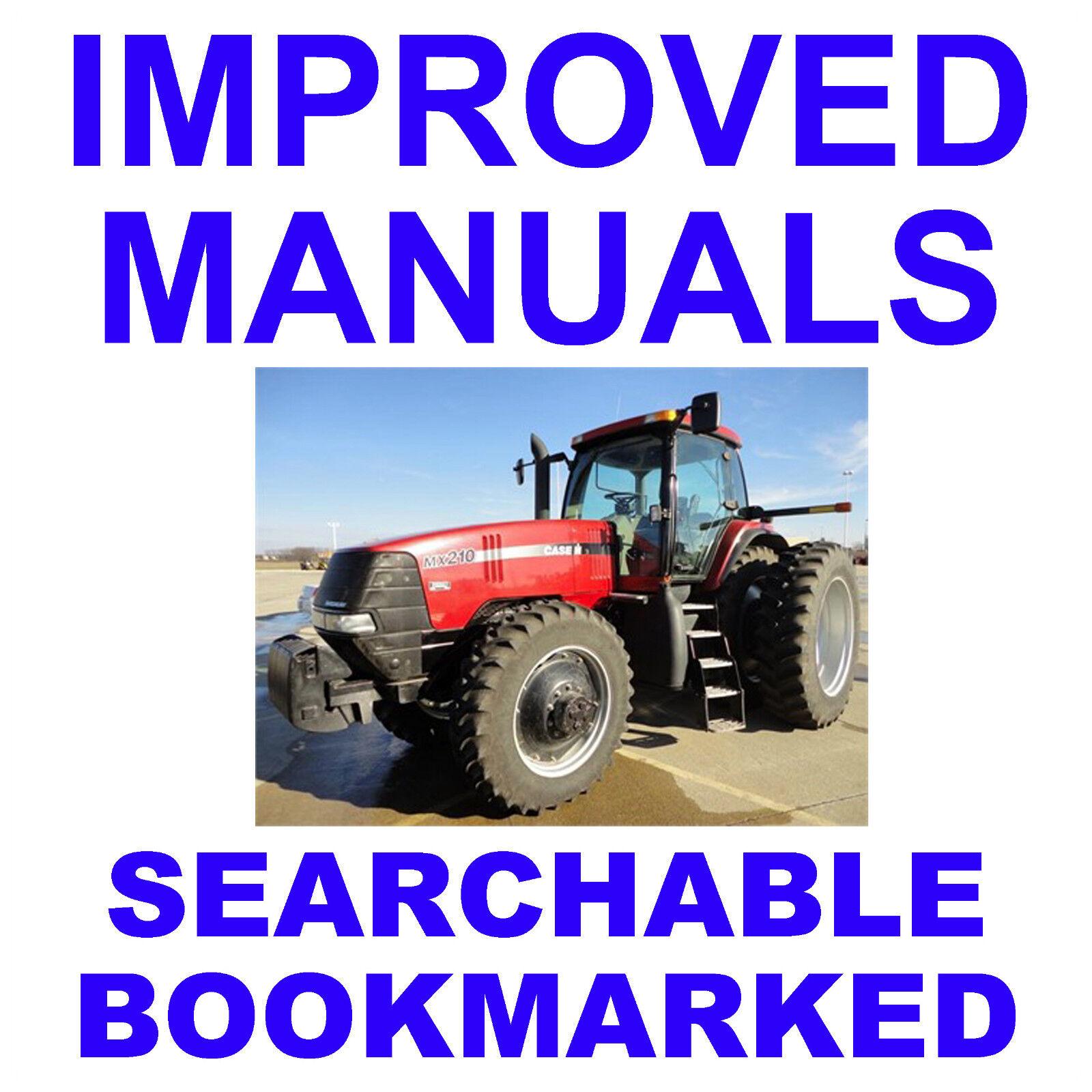 Case MX100, MX110, MX120, MX135 Tractor Dealer Service Repair Workshop  Manual CD