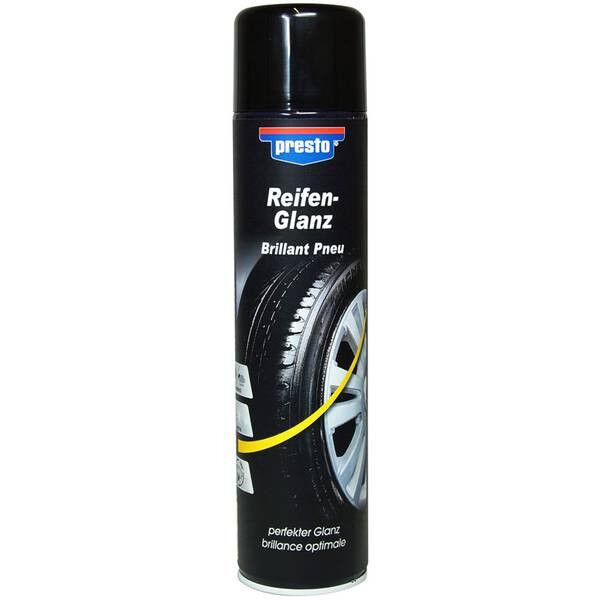 Reifenglanz 383458 PRESTO 600 ml Spray Glanz Reifen Gummi Reifenflanke Spray