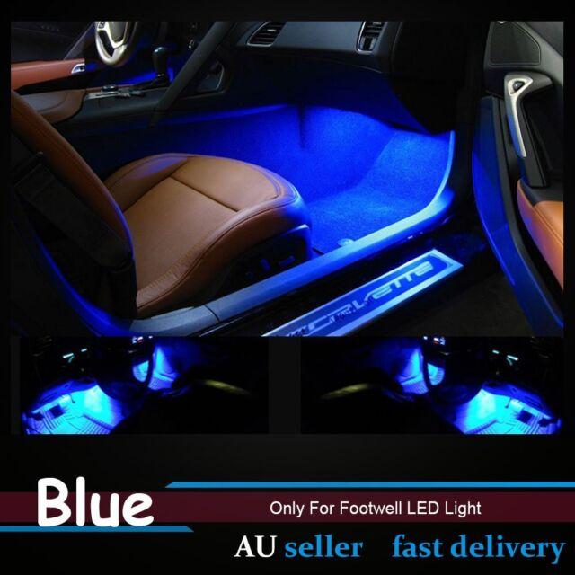 4pcs Blue 3528 36SMD 60CM Waterproof Car Footwell LED Strip Lights Caravan Ute