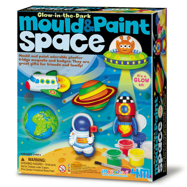 Mould and Paint Cute Space Kit