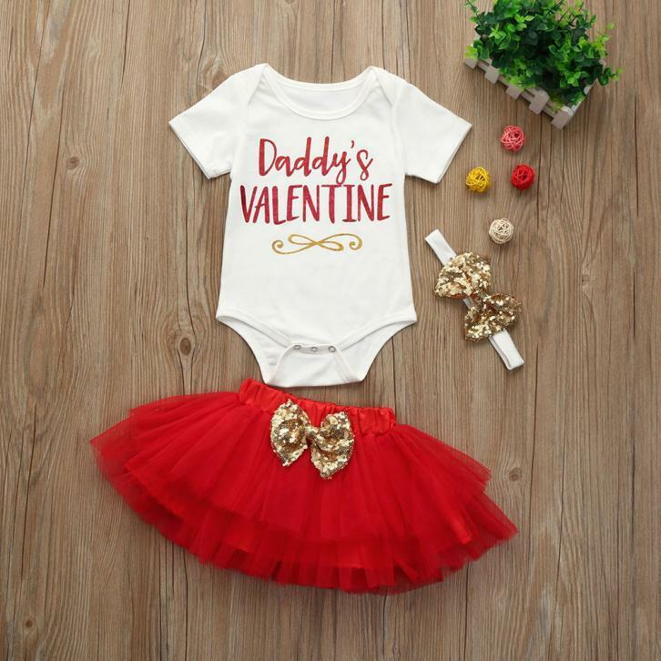 picture 1 of 9 - Infant Valentines Day Outfits
