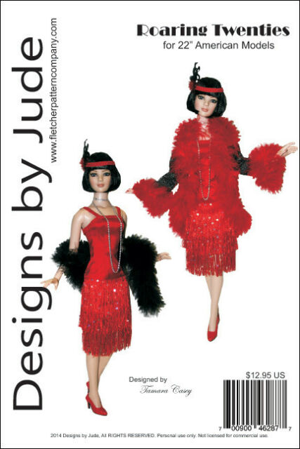 Roaring Twenties Flapper Doll Clothes Sewing Pattern 22\