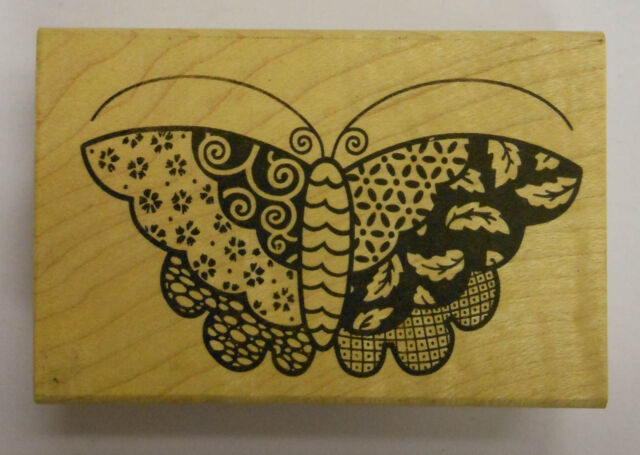 Rubber Stamp  Japanese Butterfly - Wood Mounted JK 2695G