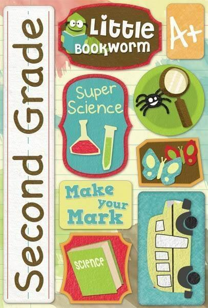 Karen Foster Design Second 2nd Grade School Cardstock Scrapbook