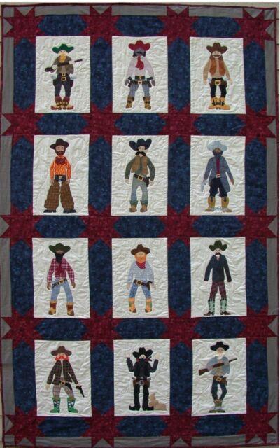 Quilt Pattern Posse Cowboy Americana BOOTS Applique   eBay : cowboy boots quilt pattern - Adamdwight.com