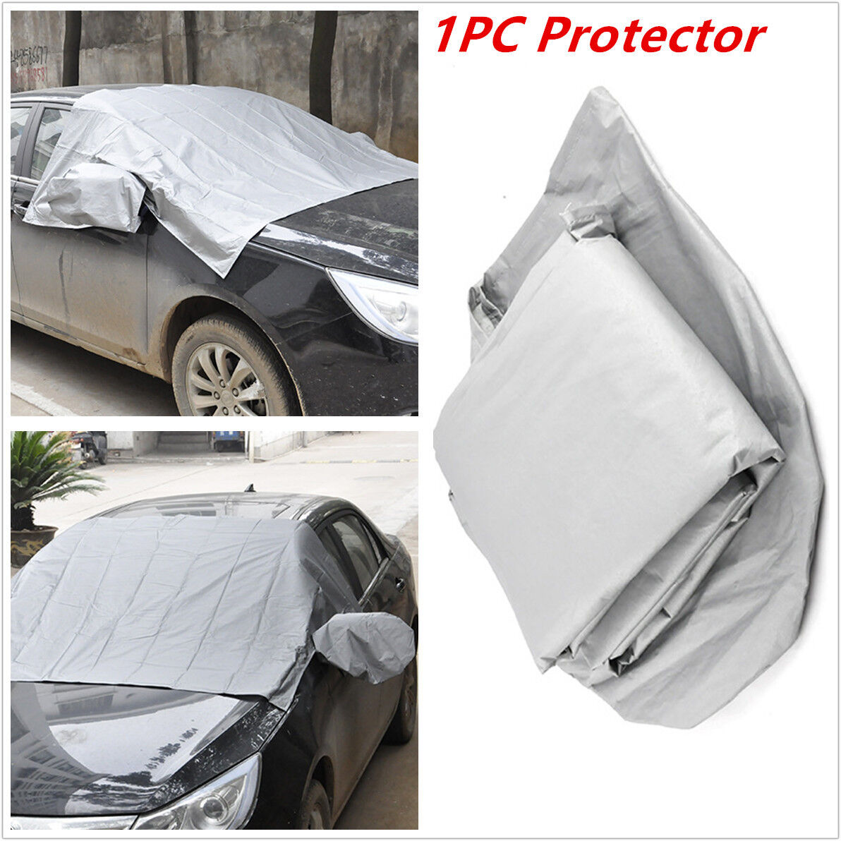 Magnetic Car Windshield Cover Sun Snow Frost Ice Cotton Window