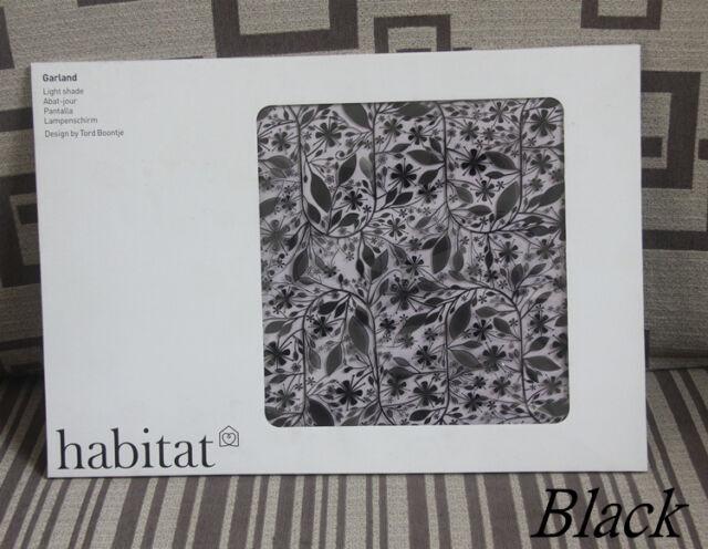 Habitat Tord Boontjeu0027s Garland Light Shade Flower Lamp Pendant  Chandelier,Black