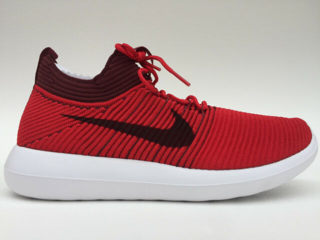 30259b9118f3f ... germany mens nike roshe two flyknit v2 running shoes size 9.5 12 red  918263 600 d2aaf