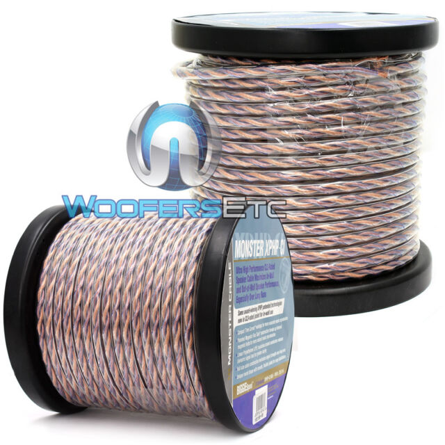 2 monster cable 100 foot rolls 200 feet speaker wire home theater or rh ebay com Home Theater Wiring Guide Cool Home Theater Rooms